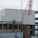 Fukushima Daiichi 4 cover installed